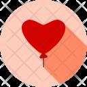 Balloon Heart Love Icon