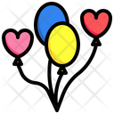 Balloon Love And Romance Just Married Icon