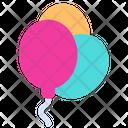 Baby Balloons Birthday Icon