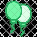 Party Round Shape Balloon Celebration Icon