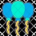 Balloons Round Shape Balloon Party Icon