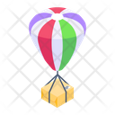 Air Delivery Balloon Delivery Logistic Delivery Icon