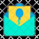 Balloon Invitation Icon