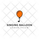 Singing Balloon Balloon Tag Balloon Label Icon