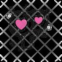 Balloon Valentine Wedding Icon