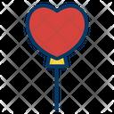 Heart Shape Ballon Love Heart Icon