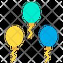 Ballons Decoration Opening Celebration Icon
