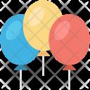 Balloons Birthday Decoration Icon
