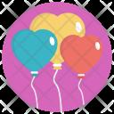 Balloon Blue Pink Icon