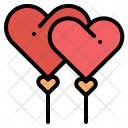 Balloons Valentine Heart Icon