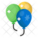 Balloons Party Balloon New Year Balloons Icon