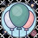 Balloons Decorative Balloons Bunch Of Balloons Icon
