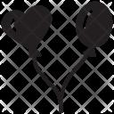 Balloons Heart Shape Icon