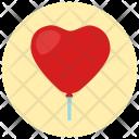 Balloons Heart Lollipop Icon