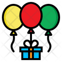Ballons Gift Birthday Icon