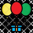 Ballons Gift Birthday Icon