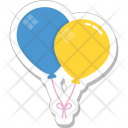 Balloons Party Decorations Icon