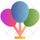 Easter Decoration Party Icon