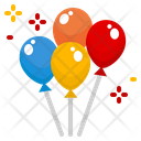 Balloons Party Celebration Decoration Circus Icon