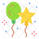 Balloons Star Party Icon