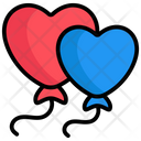 Balloons Heart Shape Celebration Icon