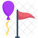 Balloons And Flag Icon