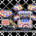Balloons Cart Icon