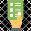 Voting Card Ballot Icon
