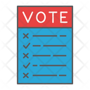 Ballot Voting Vote Icon