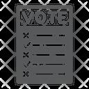 Ballot Voting Vote Icon
