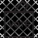 Ballot Box Stuffing Icon