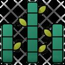 Bamboo Plant Botanical Icon