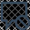 Ban Message Shield Icon