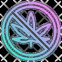Ban Cannabis Ban Marijuana Ban Icon