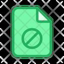 Ban Document Icon