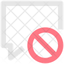 Ban Message Block Message Chat Icon