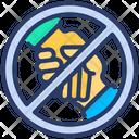 Ban Of Handshake Icon