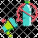 Ban plastic Icon