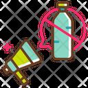 Ban Plastic Campaign Icon