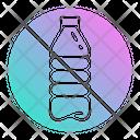 Plastic No Bottles Icon
