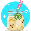 Banana Smoothie Drink Icon