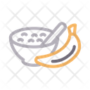 Banana Bowl Food Icon