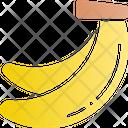 Banana Fruit Healthy Food Icon