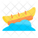 Banana Boat Boat Transportation Icon
