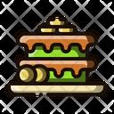 Banana Cake Cake Dessert Icon