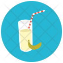 Banana Juice Glass Icon