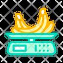 Banana Weighing Banana Food Scale Icon