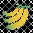 Bananas Fruit Vitamins Icon