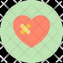 Bandage Broken Heart Icon