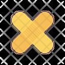 Bandage Aid Injured Icon